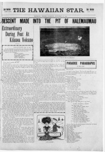 The Hawaiian Star published on September 25, 1909 (click on image for large version)