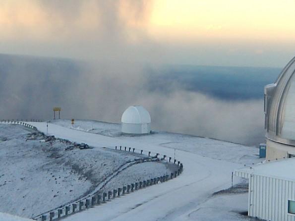 Mauna Kea Wednesday morning (Nov 9) Photo courtesy of UH-Hilo