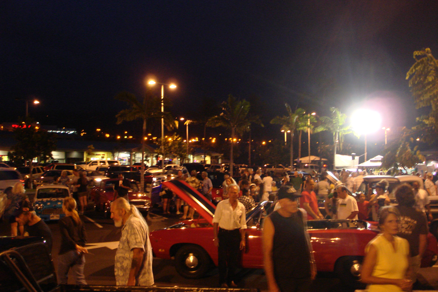 This Saturday night, November 19th, Lanihau Center will be rumbling to the sounds of hot rods, muscle cars, VWs and classic cars of all breeds. The occasion is a show n' shine food and fund raising evening for the Hawaii Island Food Basket. With Thanksgiving just days away, Big Isle auto enthusiasts want to lead the drive to fill up the Food Basket truck this weekend.