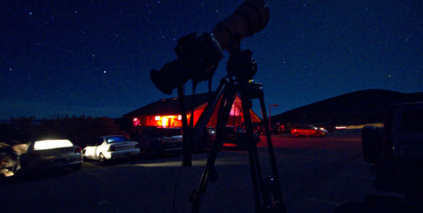 The Mauna Kea Visitor Information Station early Saturday morning. Photography by Baron Sekiya | Hawaii 24/7.