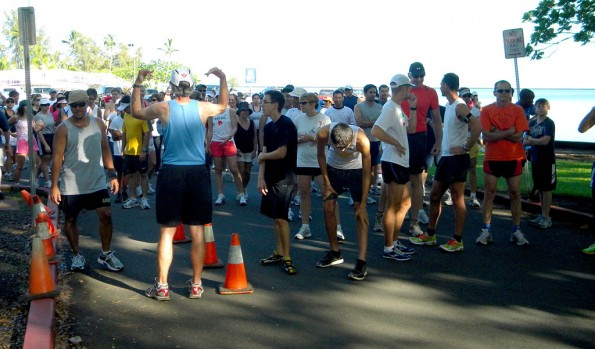 Runners prepare for the start of the Big Dog New Year's Day 5K at Moku Ola. Photo courtesy of Wayne Joseph