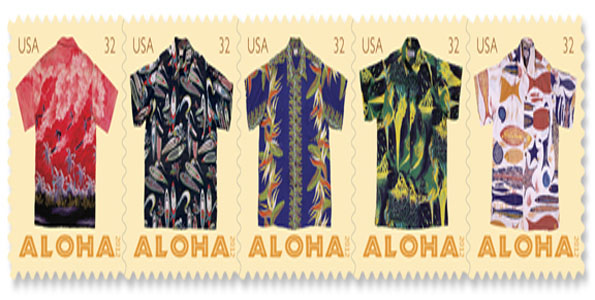 New aloha shirt postcard stamps available