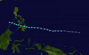 Track of Typhoon Sendong