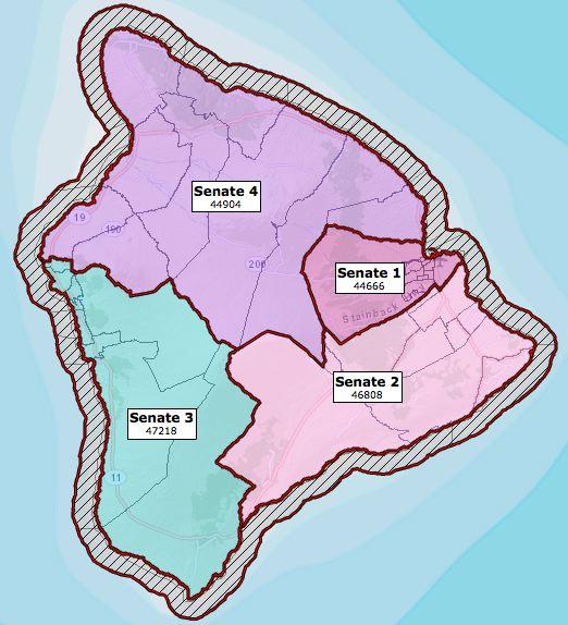 Hawaii County Senate Districts