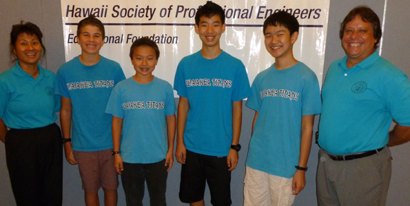 Waiakea Intermediate School captured second place at the Hawaii State MathCounts Competition