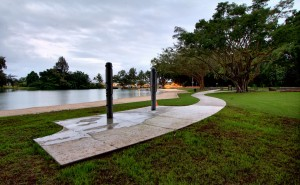 New showers and ADA compliant concrete walkways at Reed's Bay Beach Park. HDR composite photo by Baron Sekiya | Hawaii 24/7