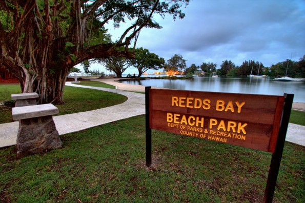 Reed's Bay Beach Park in Hilo. HDR composite photo by Baron Sekiya | Hawaii 24/7