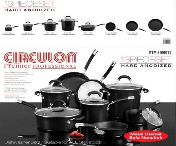 Circulon Premier Professional 13-piece cookware set
