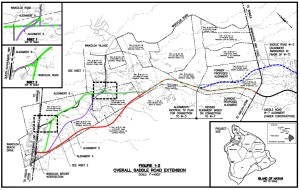 Saddle Road Extension Map (click on map for larger image)