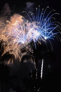 Fireworks over Kailua Bay. Photography by Brad Ballesteros | Special to Hawaii 24/7