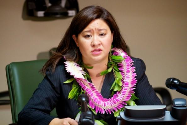 Hawaii County Clerk Jamae Kawauchi holds a press conference regarding the Primary Election. Photography by Baron Sekiya   Hawaii 24/7
