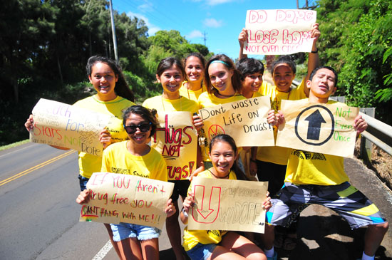 Kohala students learn about dangers of meth