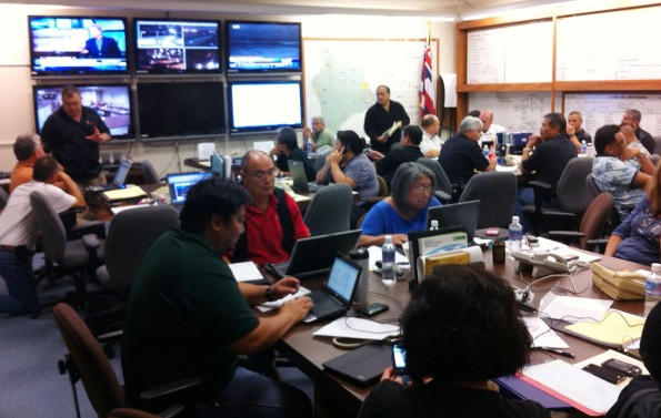The Hawaii County Emergency Operations Center at Hawaii County Civil Defense in Hilo. Photography by Baron Sekiya | Hawaii 24/7
