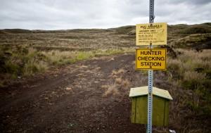 Puuanahulu Hunter Checking Station. Hawaii 24/7 File Photo
