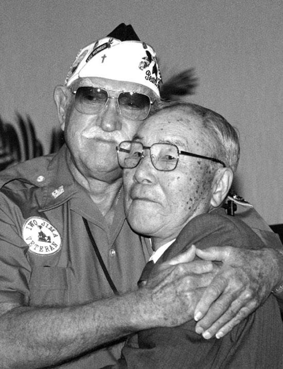Richard Fiske and Zenji Abe (Photo courtesy of Maureen Monte)