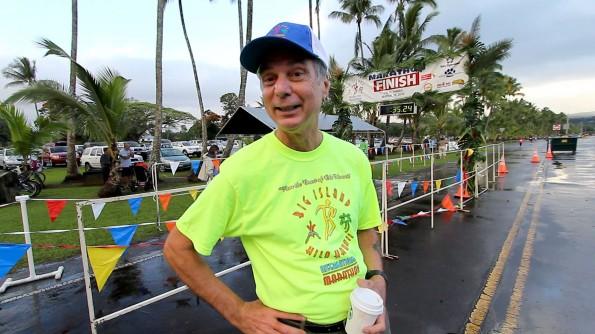 Wayne 'Big Dog' Joseph at the 2012 Big Island International Marathon. Hawaii 24/7 File Photo