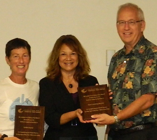 Brenda Larson Maile Goo and Jay Kreuzer. (Photo courtesy of Kona Community Hospital)