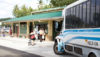 A Hele-On Bus pulls up to the newly renovated Mooheau Bus Terminal. (Photo courtesy of the Mayor's Office)
