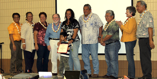Gov. Neil Abercrombie, Mayor Billy Kenoi and a host of elected officials gathered to celebrate the inaugural graduation of the Veteran to Farmer program. (Photo by Karin Stanton)