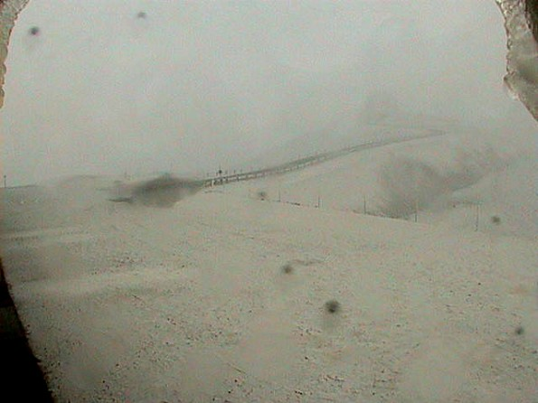 Mauna Kea summit area from the W.M. Keck Observatory webcam at 9 a.m. on January 29, 2013.