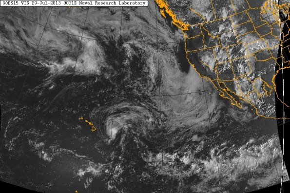 Saturday, July 28, 2013 at 2:31 p.m. HST. Satellite imagery courtesy of NRL Monterey.