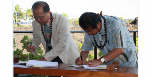 NAOJ & NAOC sign TMT Master Agreement (photo courtesy of Thirty Meter Telescope)