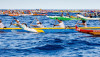 Queen Liliuokalani Long Distance Outrigger Canoe Race start in 2012