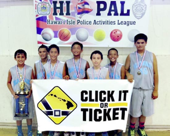 Click It or Ticket 12-and-under champions: Hawaii Warriors 6th Graders (Photo courtesy of County of Hawaii)