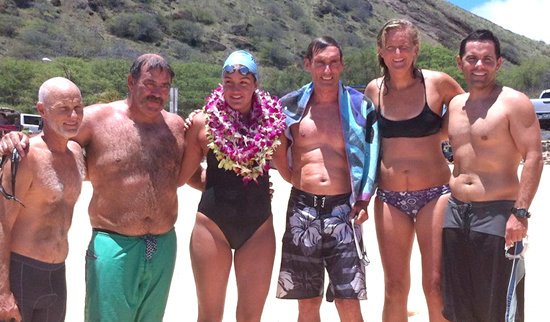 Leahi Camacho and her support team. (Photo courtesy of Camacho family)
