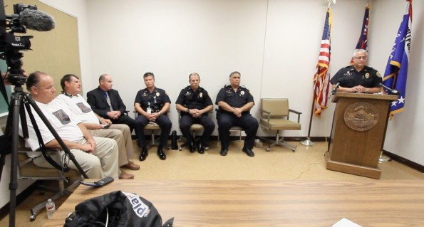 Assistant Chief of Police Henry Tavares leads a press conference announcing their conclusion that Boaz David Johnson murdered his girlfriend  Brittany-Jane Royal. Photography by Baron Sekiya | Hawaii 24/7