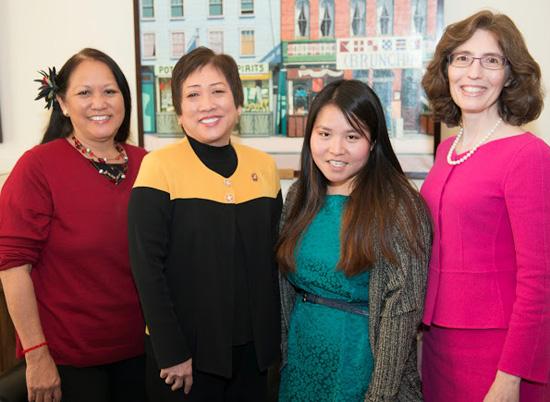 From left: Margaret K. Masunaga (HI), Rep. Colleen Hanabusa (HI), Colette Masunaga, Linda Klein (GA) (Photo special to Hawaii 24/7)