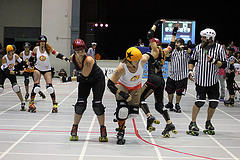Roller Derby in Hilo. Photo courtesy of Paradise Roller Girls
