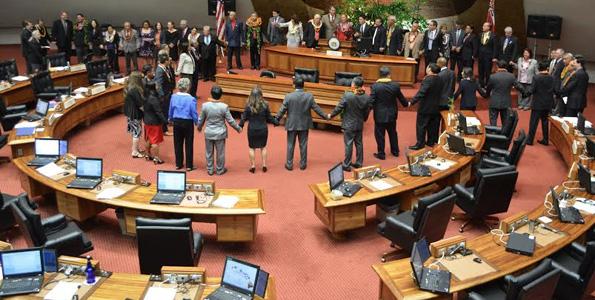 State House adjourns 2014 legislative session. (Photo courtesy of House Majority Communications)