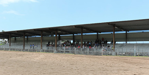The new 1,200-seat Rose Andrade Correia Stadium at the Honokaa Rodeo Arena replaces old bleachers that were exposed to the elements. (Photo courtesy of Hawaii County)