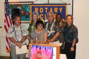 From L-R: Kyle Kawano, Barbara Hastings, Rose Anne Navalta, Cedric Mitsui, Bettye Williams and Roy Takemoto.
