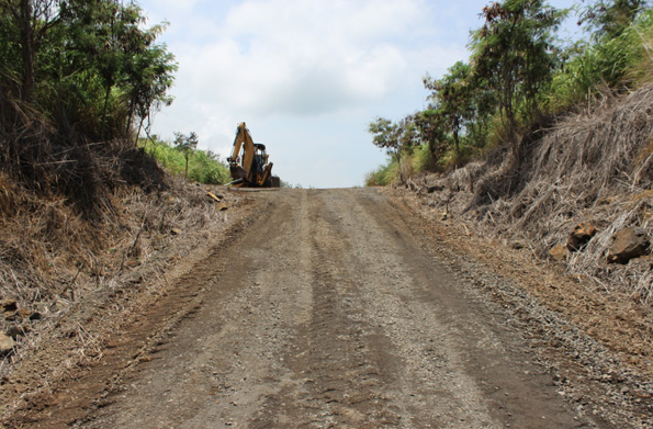 Work on the 2.2-mile section of road is slated to begin Monday, Aug. 4. (Hawaii 24/7 photo by Karin Stanton)
