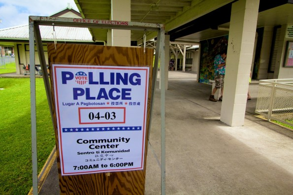 The polling place at Pahoa Community Center for the primary election Saturday, August 9, 2014. Photography by Baron Sekiya | Hawaii 24/7