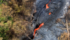 A closer look at the stream of lava pouring into the deep ground crack on Monday (Sept 1). Photo courtesy of USGS/HVO