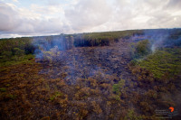 The front of the Kilauea June 27 lava flow Saturday afternoon (Sept 20). Photography by Baron Sekiya | Hawaii 24/7, Air trasportation by Paradise Helicopters