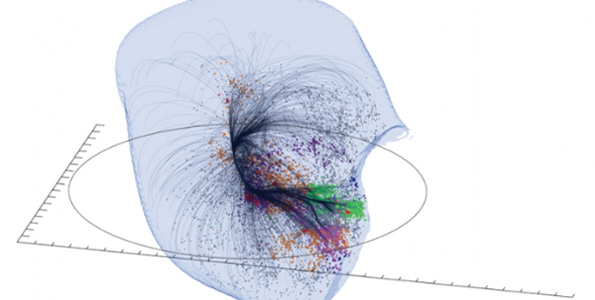 Laniakea Supercluster (Image courtesy of SDVision Interactive Visualization Software by DP at CEA   Saclay, France)