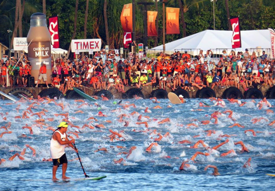 A total of 2,187 triathletes started the race. (Photo special to Hawaii 24/7 by Chris Stewart)