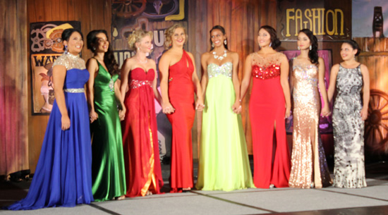The contestants for the 2015 Miss Kona Coffee Scholarship Pageant. (Hawaii 24/7 photo by Karin Stanton)