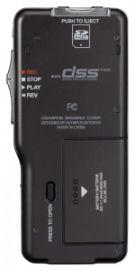 Olympus DS-5500 digital audio recorder - back view