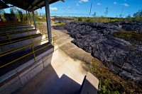 The Kilauea June 27th Lava Flow at the Pahoa Transfer Station. Photography by Baron Sekiya | Hawaii 24/7