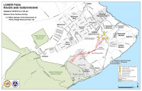Kilauea June 27 Lava Flow map updated 7 a.m., January 8, 2015. Courtesy of Hawaii County Civil Defense
