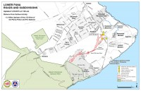 Kilauea June 27 Lava Flow map updated 7 a.m., January 23, 2015. Courtesy of Hawaii County Civil Defense