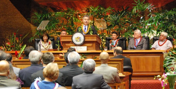 Governor David Ige presents the State of the State address in Honolulu Monday, January 26, 2015. Photo courtesy of Governor's office