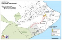 Kilauea June 27 Lava Flow map updated 7 a.m., January 29, 2015. Courtesy of Hawaii County Civil Defense