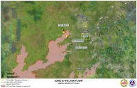 Kilauea June 27 Lava Flow map updated 7 a.m., February 2, 2015. Courtesy of Hawaii County Civil Defense