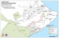 Kilauea June 27 Lava Flow map updated 7 a.m., February 3, 2015. Courtesy of Hawaii County Civil Defense
